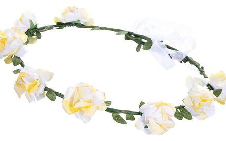 Fashion Icon Čelenka do vlasů - květinový věneček pastelové