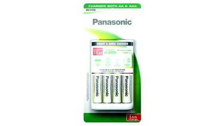 Nabíječka Panasonic BQ-CC55 Smart Quick pro AA,AAA + 4x AA, 1900 mAh (K-KJ55MGD40E)