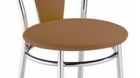 Kovová židle Tulipan Plus světle hnědá