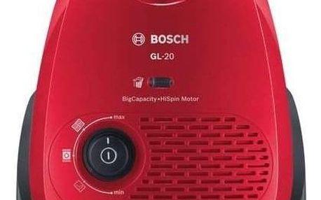 Vysavač podlahový Bosch BGB2UA330 červený
