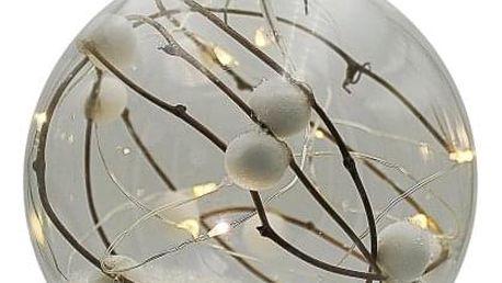 Marimex | Crystal závěsná koule s větvičkou 12 LED | 18000316