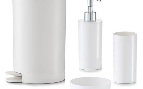 Sada koupelnových doplňků, 4 díly v sadě - bílá barva, ZELLER