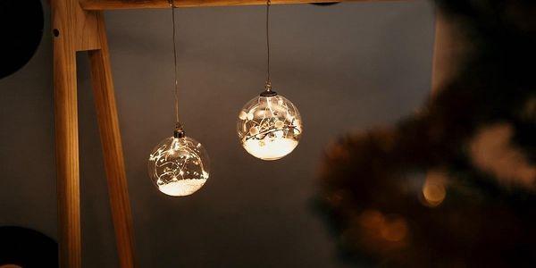Marimex Crystal závěsná koule s větvičkou 12 LED - 180003165