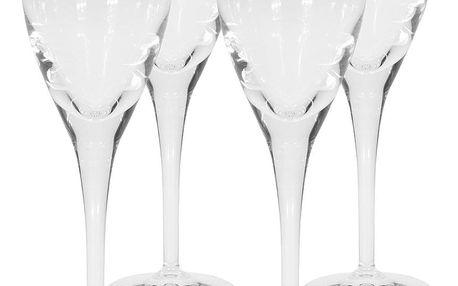 Sada sklenic na víno Crystal 220 ml, 4 ks