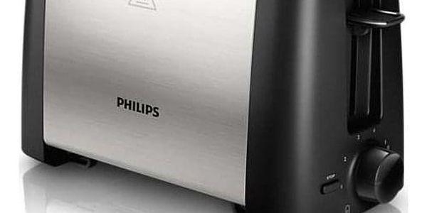 Opékač topinek Philips Daily Collection HD4825/90 černý/nerez