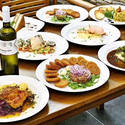 3chodové menu v moderní restauraci na Andělu pro 2