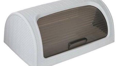 Altom Plastový chlebník Rattan White 41,7 x 26,9 x 18,1 cm