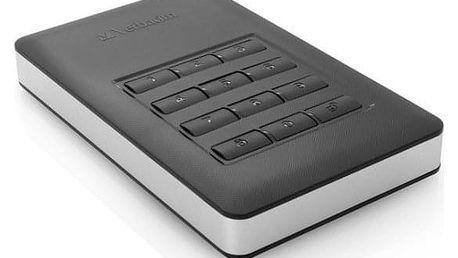 Verbatim Store 'n' Go 1TB, s numerickou klávesnicí pro šifrování stříbrný/šedý