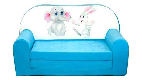 Dětská sedačka mini ANIMALS Tučňáci/modrá