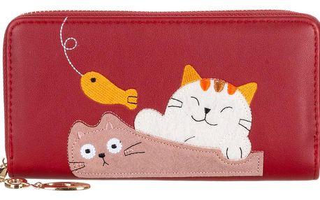 Flora&co Dámská peněženka Cats & Fish kočky