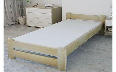 Vyvýšená masivní postel Euro 90x200 cm včetně roštu