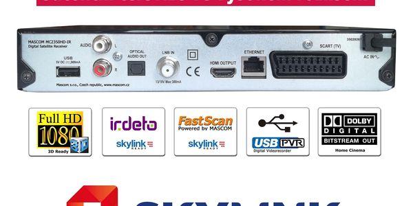 Satelitní přijímač Mascom MC2350HD-IR černý2