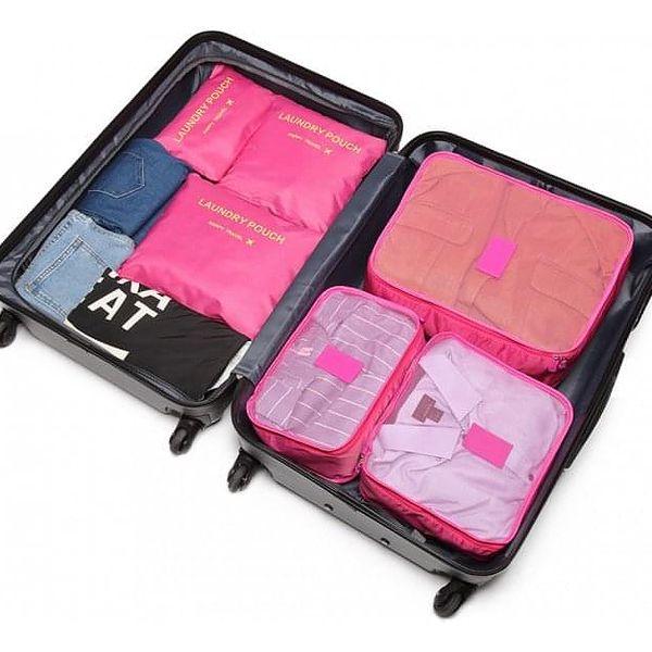 Tmavě růžové cestovní organizéry Aria 68743