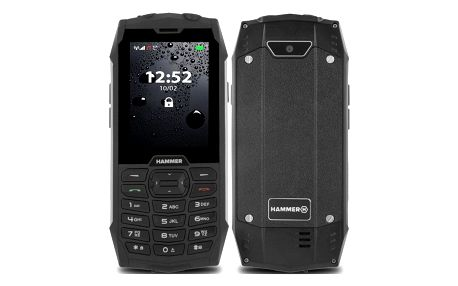 Mobilní telefon myPhone Hammer 4 Dual SIM stříbrný (TELMYHHA4SI)