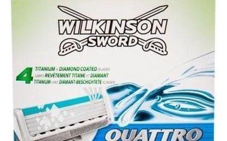 Wilkinson Sword Quattro Titanium Sensitive 8 ks sada náhradních břitů pro muže