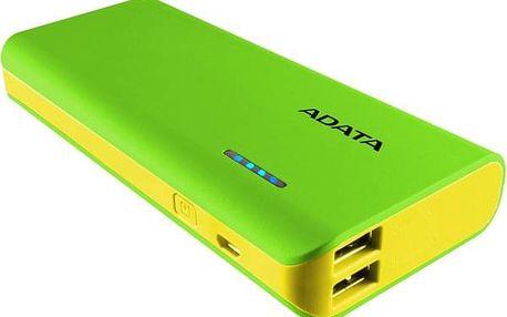 Powerbank ADATA PT100 10000mAh žlutá/zelená (APT100-10000M-5V-CGRYL)