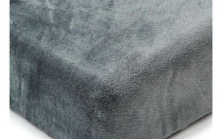 4Home Prostěradlo mikroflanel tmavě šedá, 180 x 200 cm