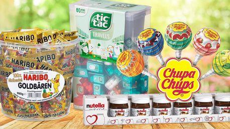 Obří Tic Tac, lízátka Chupa Chups, Haribo i Nutella