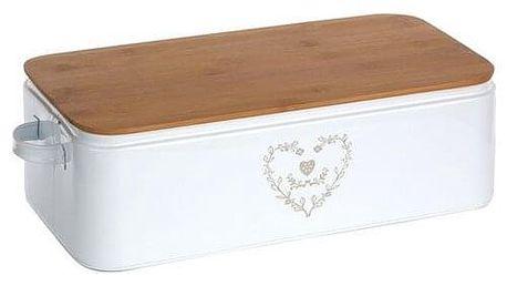 Altom Chlebník s bambusovým víkem Srdce 42 x 23 x 13 cm