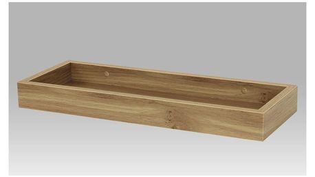Nástěnná polička Dub, 40 cm, 40 cm