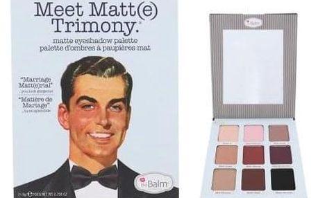TheBalm Meet Matt(e) Trimony Eyeshadow Palette 21,6 g paletka matných očních stínů pro ženy