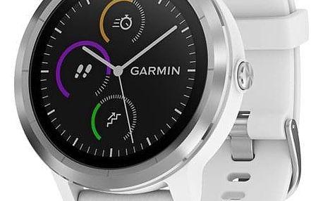 Chytré hodinky Garmin vívoActive3 Optic stříbrné/bílé (010-01769-22)