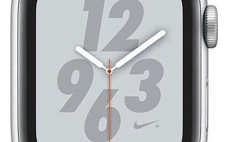 Apple Watch Nike+ Series 4 GPS 40mm pouzdro ze stříbrného hliníku - platinový/černý sportovní řemínek Nike (MU6H2HC/A)