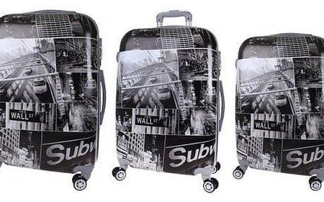 Sada 3 kufrů (Black - City)