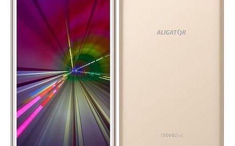 Mobilní telefon Aligator S5066 zlatý (AS5066GD)
