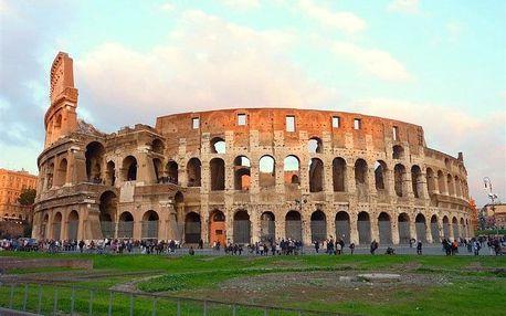 Itálie - Řím autobusem na 6 dnů, snídaně v ceně