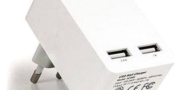 Camelion AD569-DB, 2x USB bílá