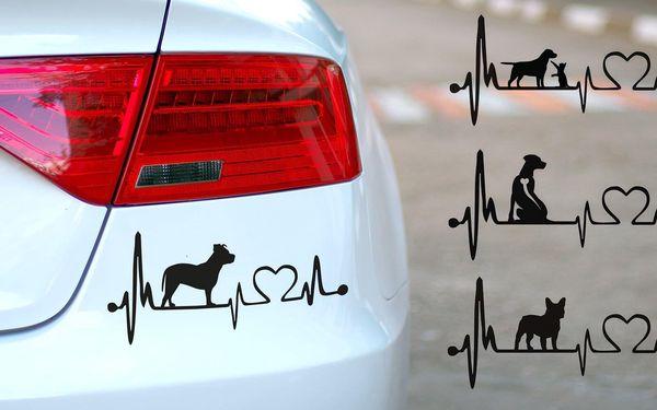 Samolepky na auto s výběrem psích plemen