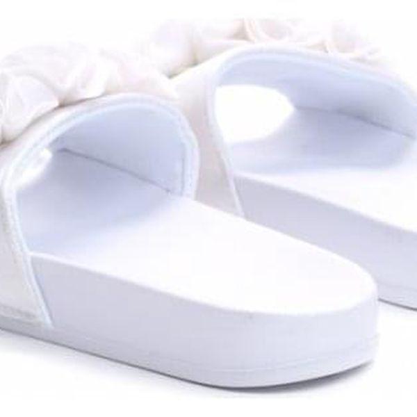 Dámské bílé pantofle Fiona 10731A3