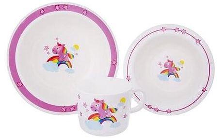 Orion 3dílná dětská jídelní sada Koník