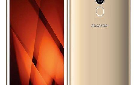 Mobilní telefon Aligator S5710 zlatý (AS5710GD)