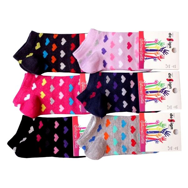 Ponožky pro miminka - 6 párů   Velikost: 17-19   Světle růžová3