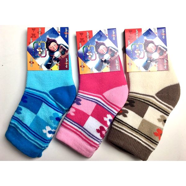 Ponožky pro miminka - 6 párů   Velikost: 17-19   Světle růžová4
