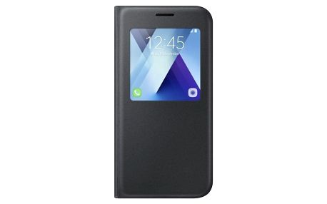 Pouzdro na mobil flipové Samsung S-View pro Galaxy A5 2017 černé (EF-CA520PBEGWW)