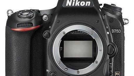 Digitální fotoaparát Nikon D750 tělo černý + dárek Dárkový poukaz Nikon 1500 Kč + DOPRAVA ZDARMA