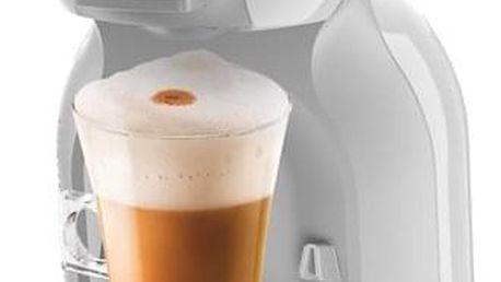 Espresso Krups NESCAFÉ Dolce Gusto Mini Me KP1201CS šedé/bílé + dárek Kapsle pro espressa NESCAFÉ Dolce Gusto® Latte Macchiato kávové kapsle 16 ks v hodnotě 109 Kč
