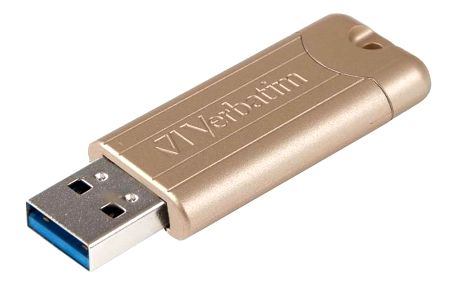 Verbatim Store 'n' Go PinStripe 128GB zlatý (48011)