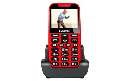 Evolveo EVOLVEO EasyPhone XD pro seniory červený (EP-600-XDR)
