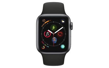 Chytré hodinky Apple Watch Series 4 Watch Series 4 GPS 40mm pouzdro z vesmírně šedého hliníku - černý sportovní řemínek CZ verze (MU662HC/A)