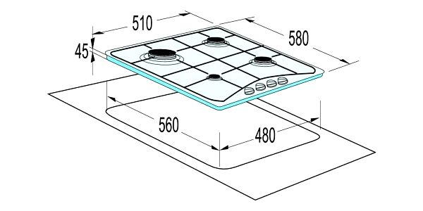 Plynová varná deska Mora VDP 645 W bílá5