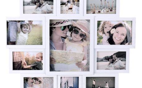 Home Styling Collection Obdélníkový rámeček - pro 11 fotek 61X61X2CM