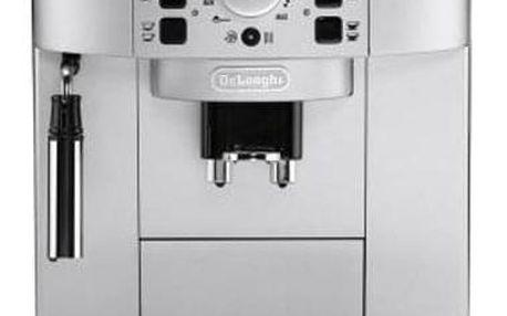 Espresso DeLonghi Magnifica ECAM22.110SB černé/stříbrné Káva zrnková DeLonghi Kimbo Classic 250g + Příslušenství DeLonghi Skleničky espresso v hodnotě 318 Kč