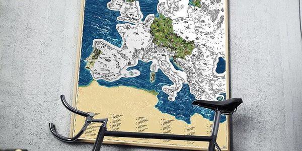 Česká verze stírací mapy světa Deluxe XL2