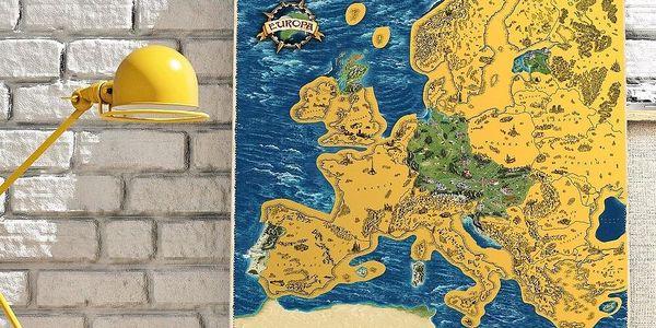 Česká verze stírací mapy světa Deluxe XL3