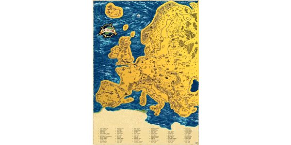Česká verze stírací mapy světa Deluxe XL4