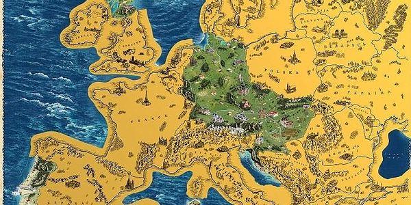Česká verze stírací mapy světa Deluxe XL5